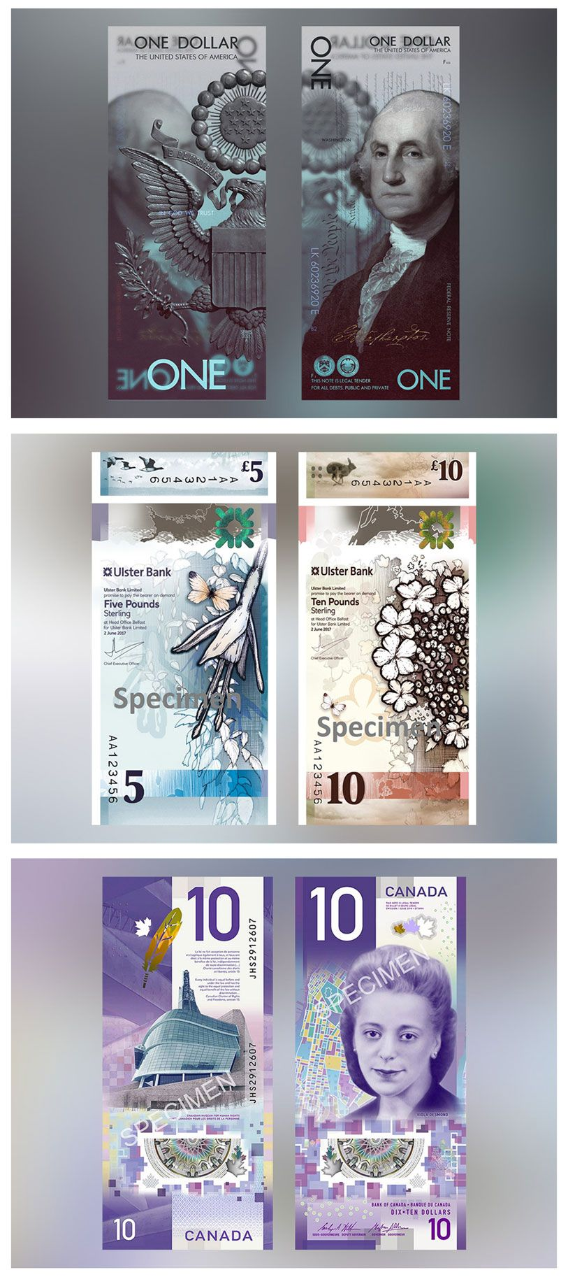 A New Trend For Bank Notes Canada And Northern Ireland Have