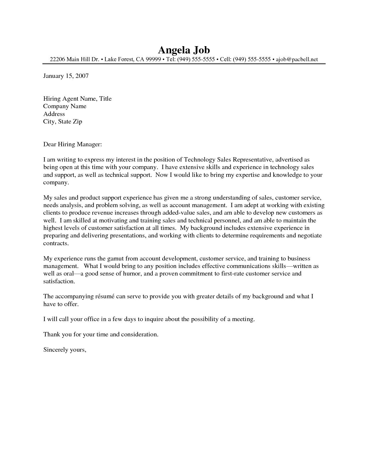 25+ Sales Cover Letter . Sales Cover Letter Valid Sales Sample Cover ...