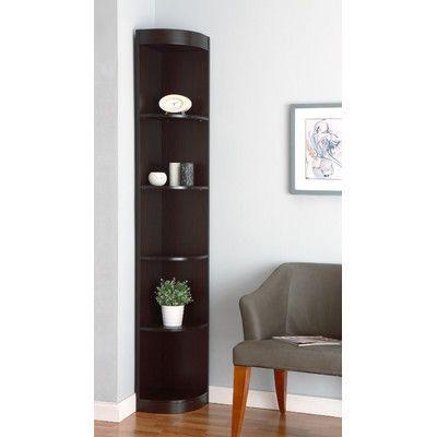 Red Barrel Studio Fuhrmann Corner Bookcase In 2021 Corner Decor Corner Shelf Design Living Room Corner