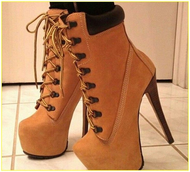 women timberland boots with high heels