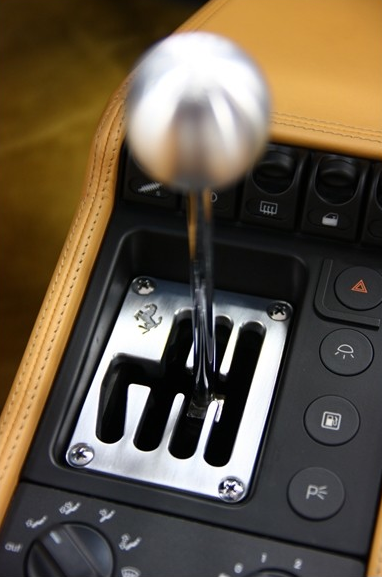 Classic Ferrari 6-speed gated shifter  The precision of this