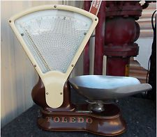 Antique Toledo 3lb Tobacco/Candy Scale No Springs/Honest Weight