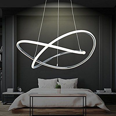 LED Design Pendelleuchte Warmweiß Hingucker Groß XL Ø 60cm