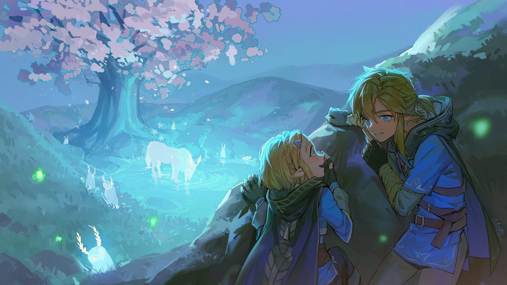 Botw Satori Mountain Is Easily One Of The Most Beautiful Spots In The Game If You Think Another Spot Is More Be Beautiful Comments Beautiful Spots Art Inspo