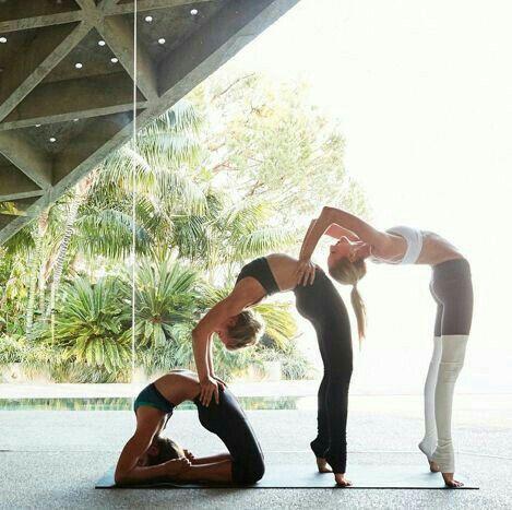 pinjess on hks♥  partner yoga poses yoga photography