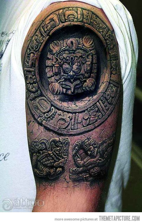 Awesome Ancient Tattoo My Bucket List Mayan Tattoos 3d Tattoos
