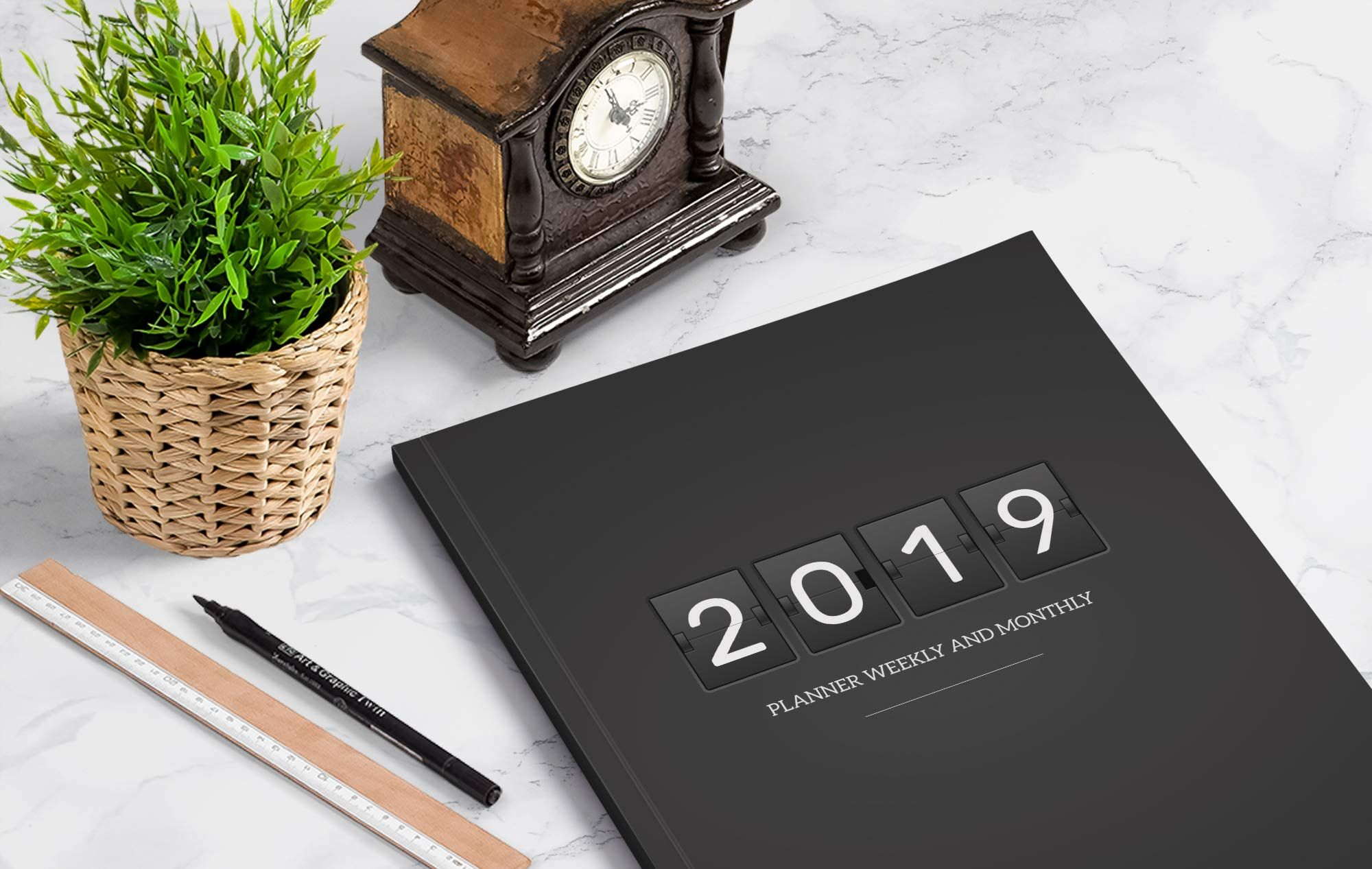 2019 planner weekly and monthly a year 365 daily 52 week journal planner calendar schedule organizer appointment notebook monthly planner to do happiness gratitude book men cover volume 1