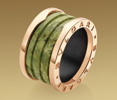 bvlgari bzero1 marble ring a trio of rings in pink gold paired with