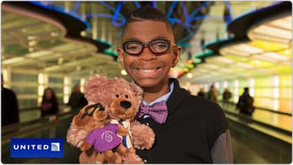 Give a bear, get a bear! Adorable great partnership!  United Airlines   March of Dimes