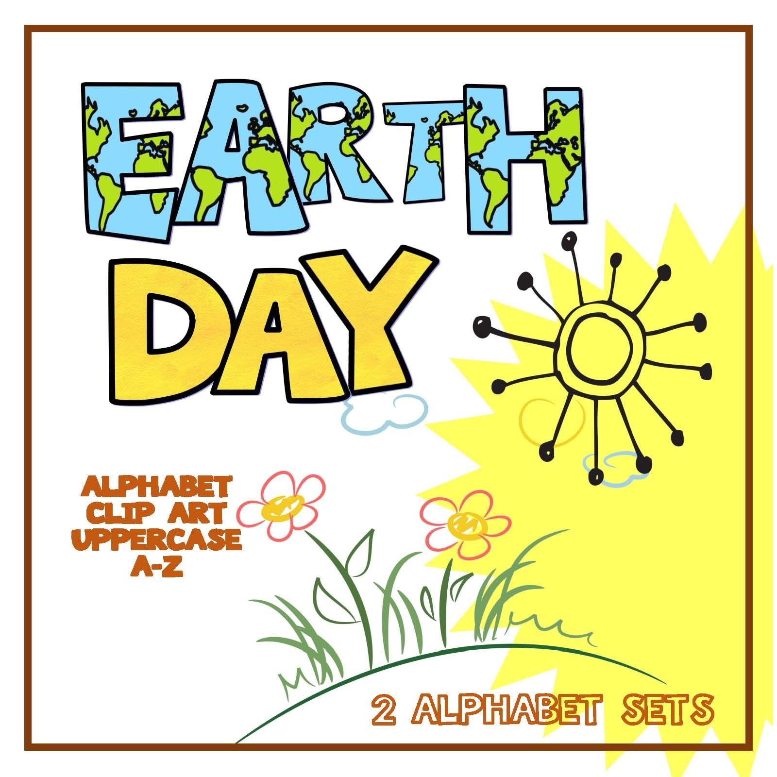 Alphabet Letters Clipart Earth Day Uppercase Amp Lowercase
