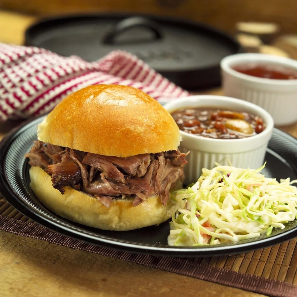 The Culinary Center -  #StaffLunch Pulled Pork/Baked Beans/Pineapple Slaw/Blueberry Crostata w/Lemon Curd...$12+tip! Tues-6/24, 11:30-1:00!