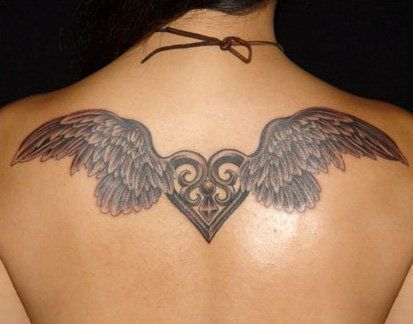 Nice Girl Tattoo Angels Wings Back Designs Ideas Shoulder Tattoo Tattoos Chest Tattoos For Women