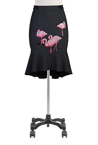 Ruffle hem #flamingo #skirt, $69.95, #eShakti, Customize to your size and style for FREE