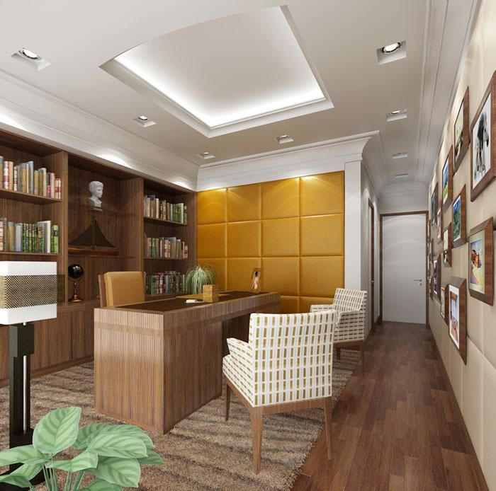 Modern Study Room Furnitures Designs Ideas: Plaster Of Paris (POP) Ceiling