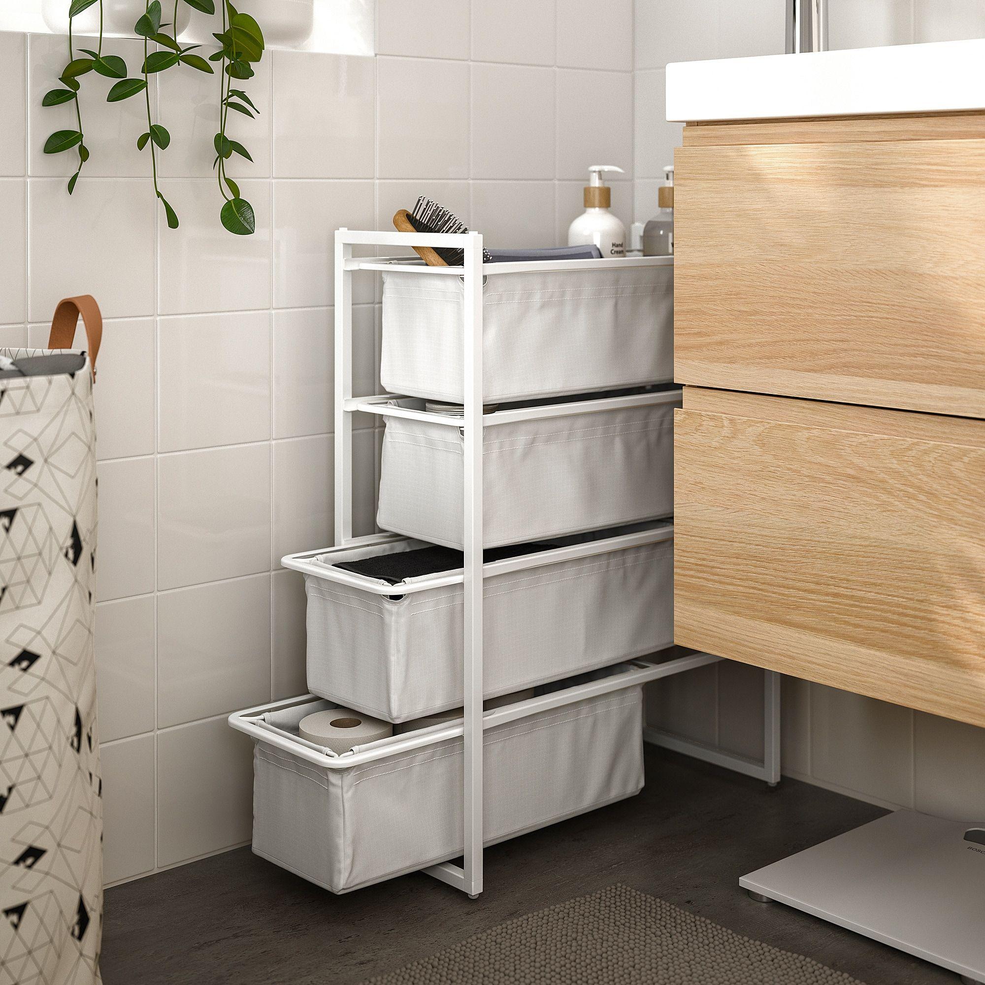 Jonaxel Rahmen Mit Stoffkorben Ikea Osterreich Ikea Ikea Hack Bathroom Storage Hacks Bedroom
