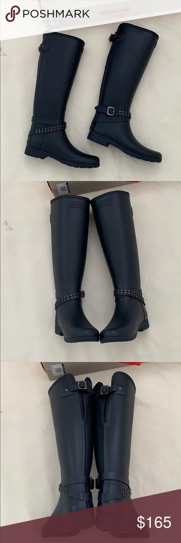 6055bb62a57 Hunter refined adjustable tall matte rain boot New in box Hunter ...