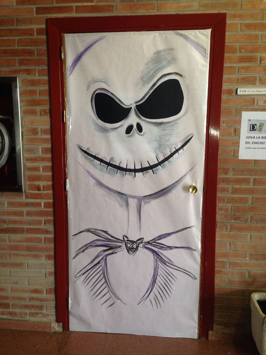 Puerta halloween by monica manso puertas pinterest for Puertas de halloween