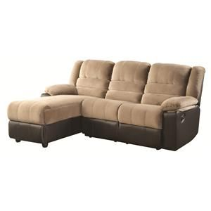 Coaster Huxley Reclining Sectional Sofa Item Number 600070