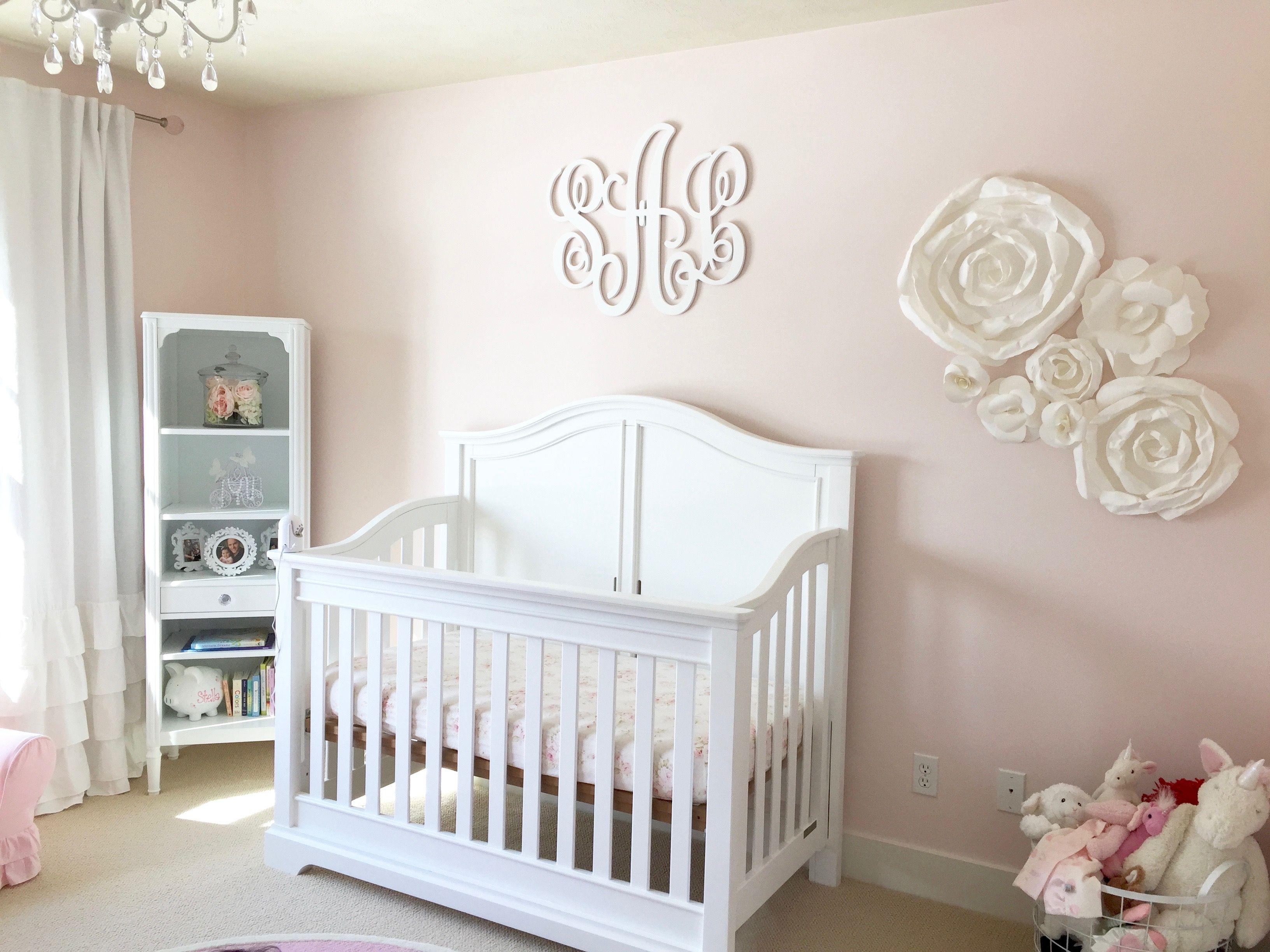 Baby Girl Monogram Ideas Petal Pink Baby Girl Nursery Cribs