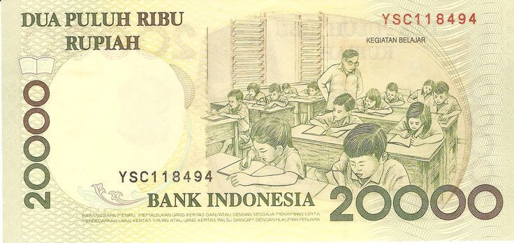 1998 Indonesia Bank Note 20,000 Rupiah - #Bank #In... - #Bank #Indonesia # Note #rupiah | Indonesia, President of indonesia, Vintage world maps