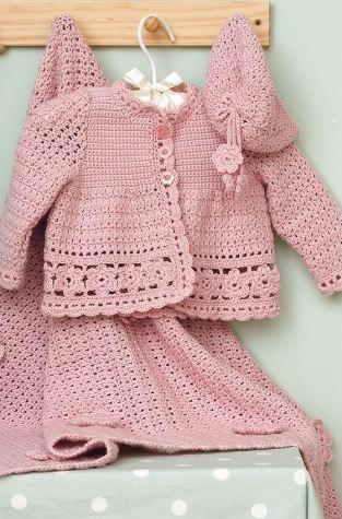 af34c63f41d9 Baby crochet pattern  Download the adorable pink set pattern ...