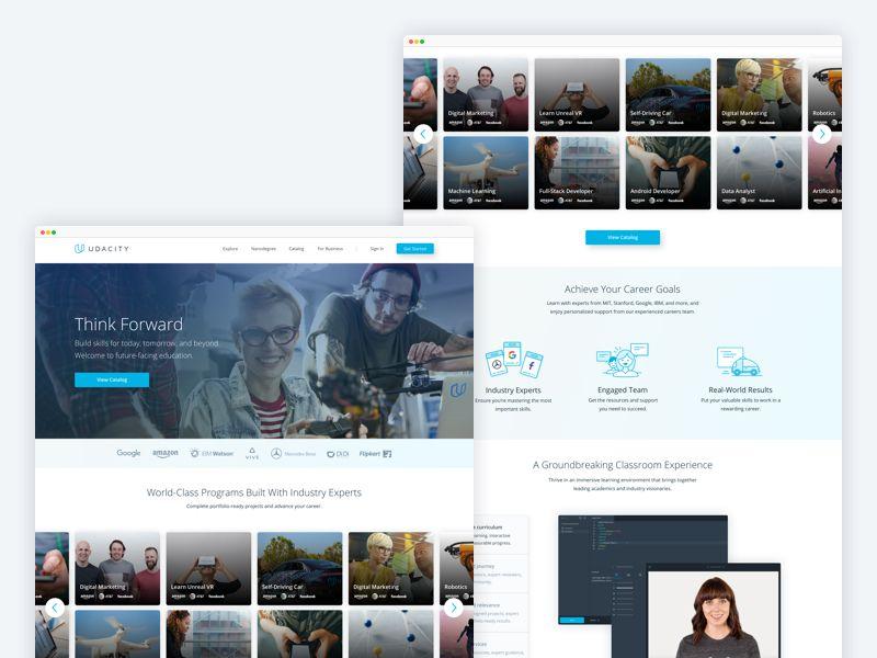 Udacity Homepage Portfolio Website Design Portfolio Website Homepage