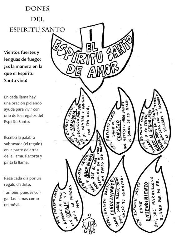 Los Dones Del Espiritu Santo Para Niños Buscar Con Google Dones Del Espiritu Espíritu Santo Catecismo