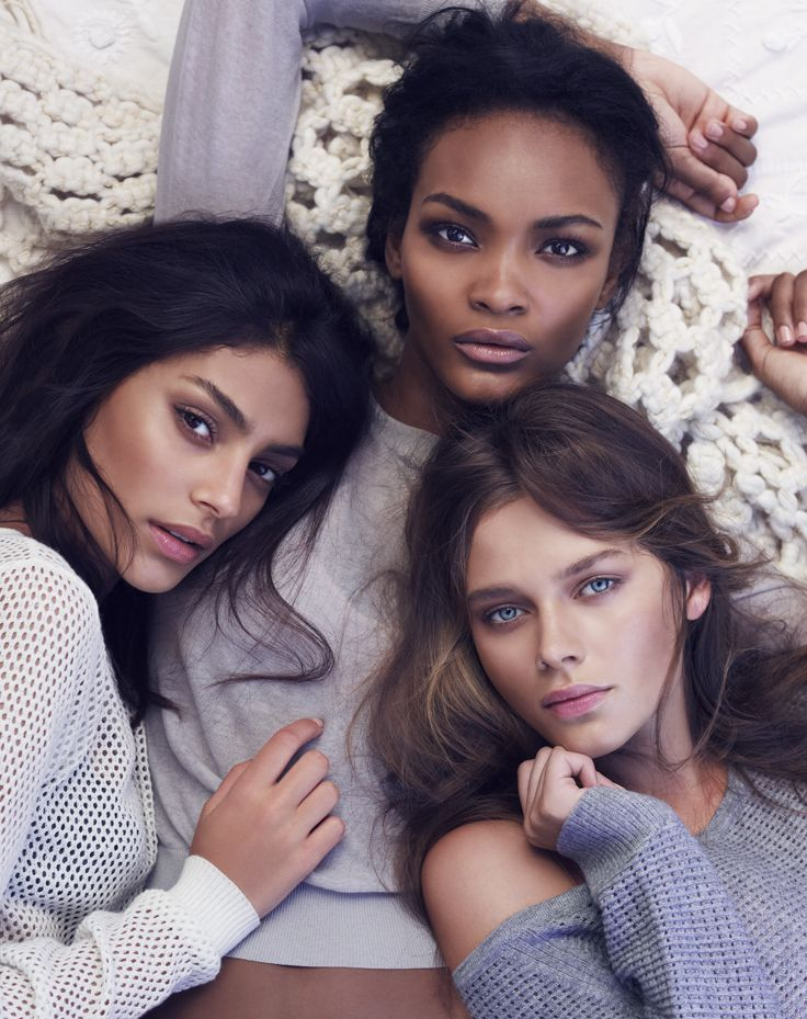 Ombre Nudes | BECCA Fall 2014 Campaign featuring Solvieg Mork, Nairoby Matos & Shani Zigron