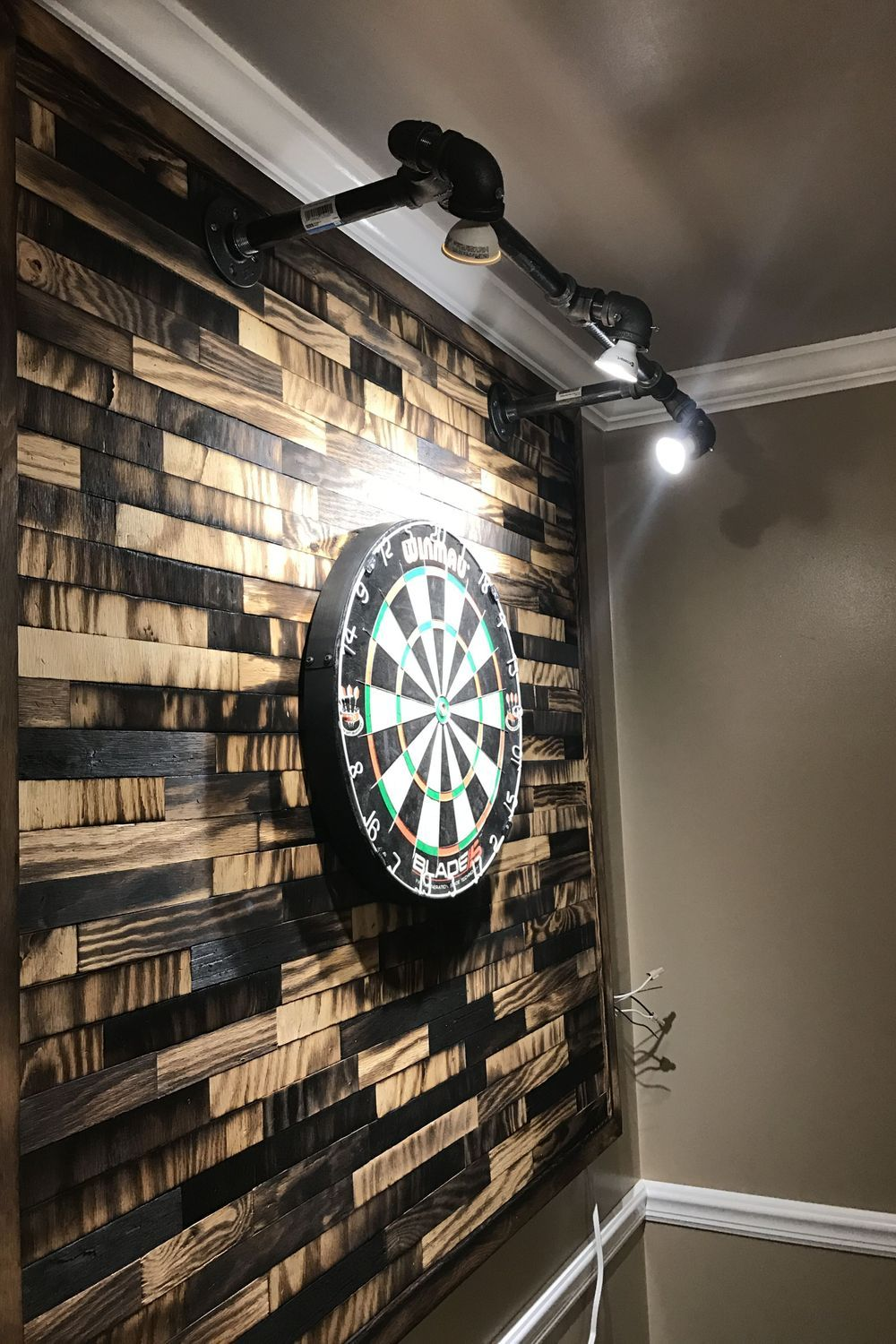 Darts Set Design Lighting Games Architecture In 2020 Game Room Lighting Gamer Room Diy Small Game Rooms