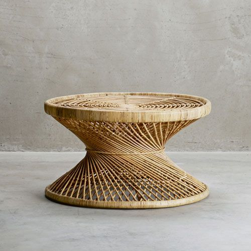 Table Ronde En Rotin Naturel Palmatable Tine K Home Table Basse