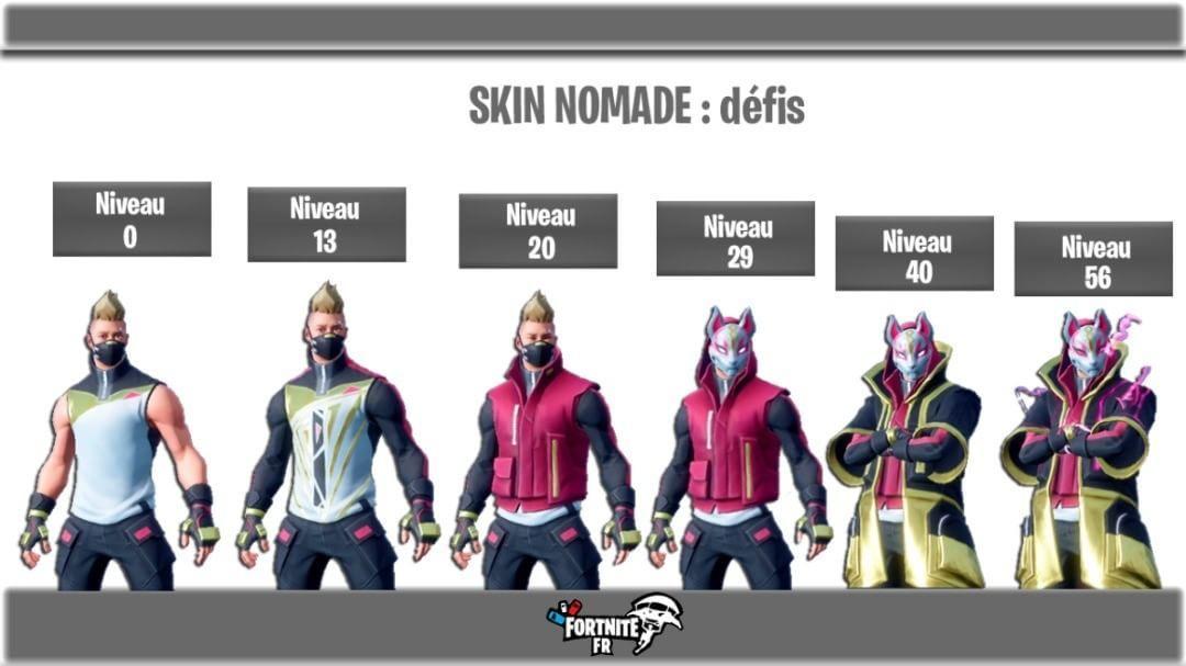 Le Skin Evolutif Du Palier 1 Du Passe De Combat Est Nomade Pour