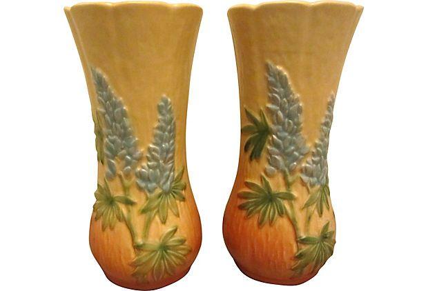 Weller Vases Pair On Onekingslane Weller Pottery Pinterest