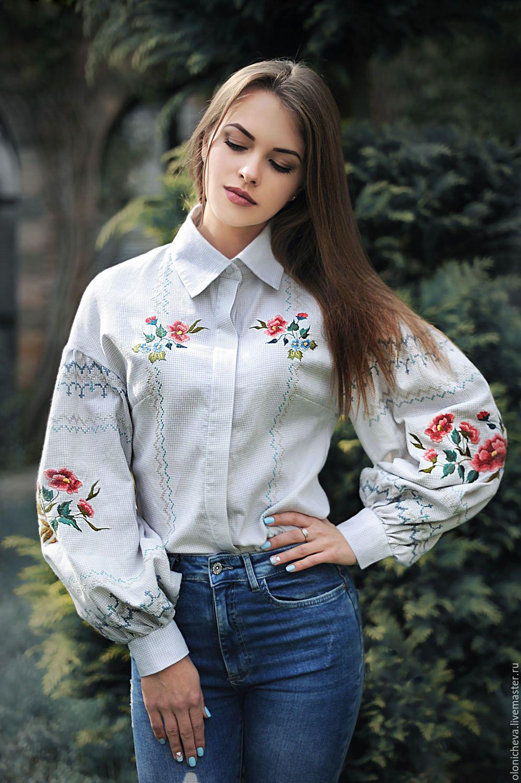 Купить блузку женскую из хлопка