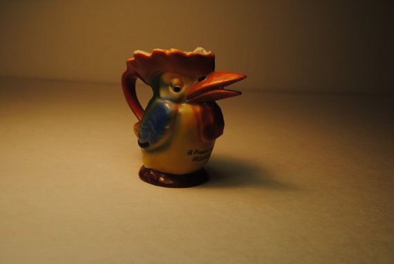 antique 1930s IRISH creamer TOUCAN which by lettuceTURNIPtheBEET, $36.00