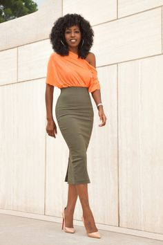 ddbe859bc305d off shoulder top and pencil skirt - Google Search