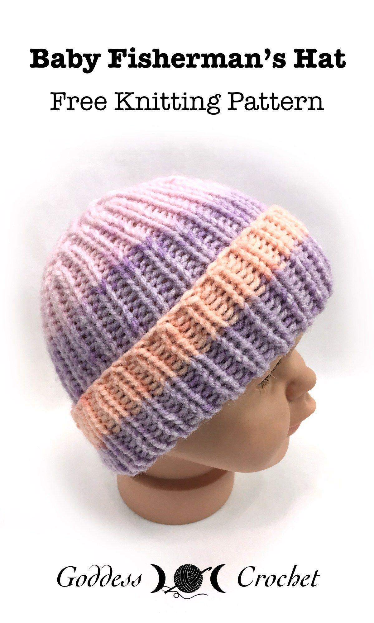 Baby Fisherman\'s Hat - Free Knitting Pattern   knitting   Pinterest ...