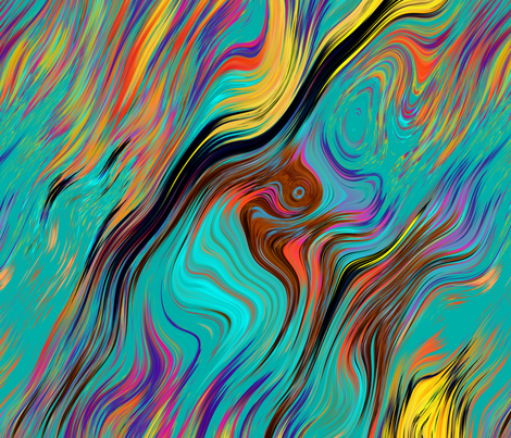 Colorful Fabrics Digitally Printed By Spoonflower Xl Feathered Lava Lamp Psychedelic Fever Emerald Teal In 2020 Spoonflower Feather Art Psychedelic