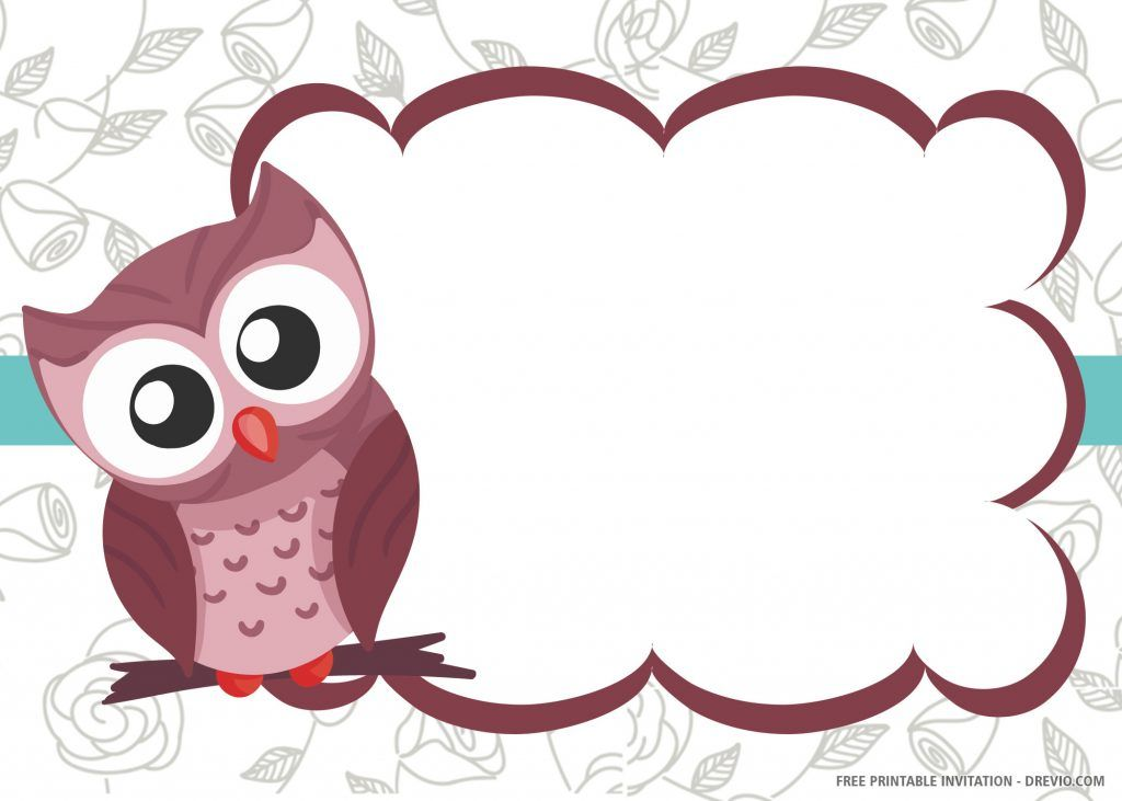 Free Printable Owl Invitation Templates Owl Invitations Free Printable Birthday Invitations Owl Birthday