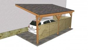 Attached carport plans - install deck railing instead of lattice