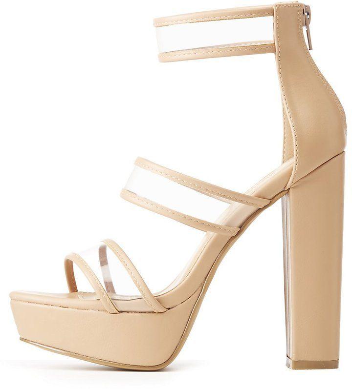 b8c64c5e821 Clear Ankle Strap Platform Sandals | Heels | Sandals, Platform wedge ...