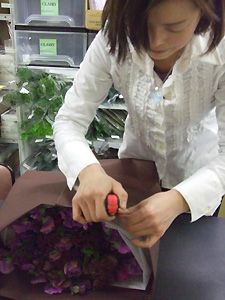 パリの花束 ~ 基本の花束1