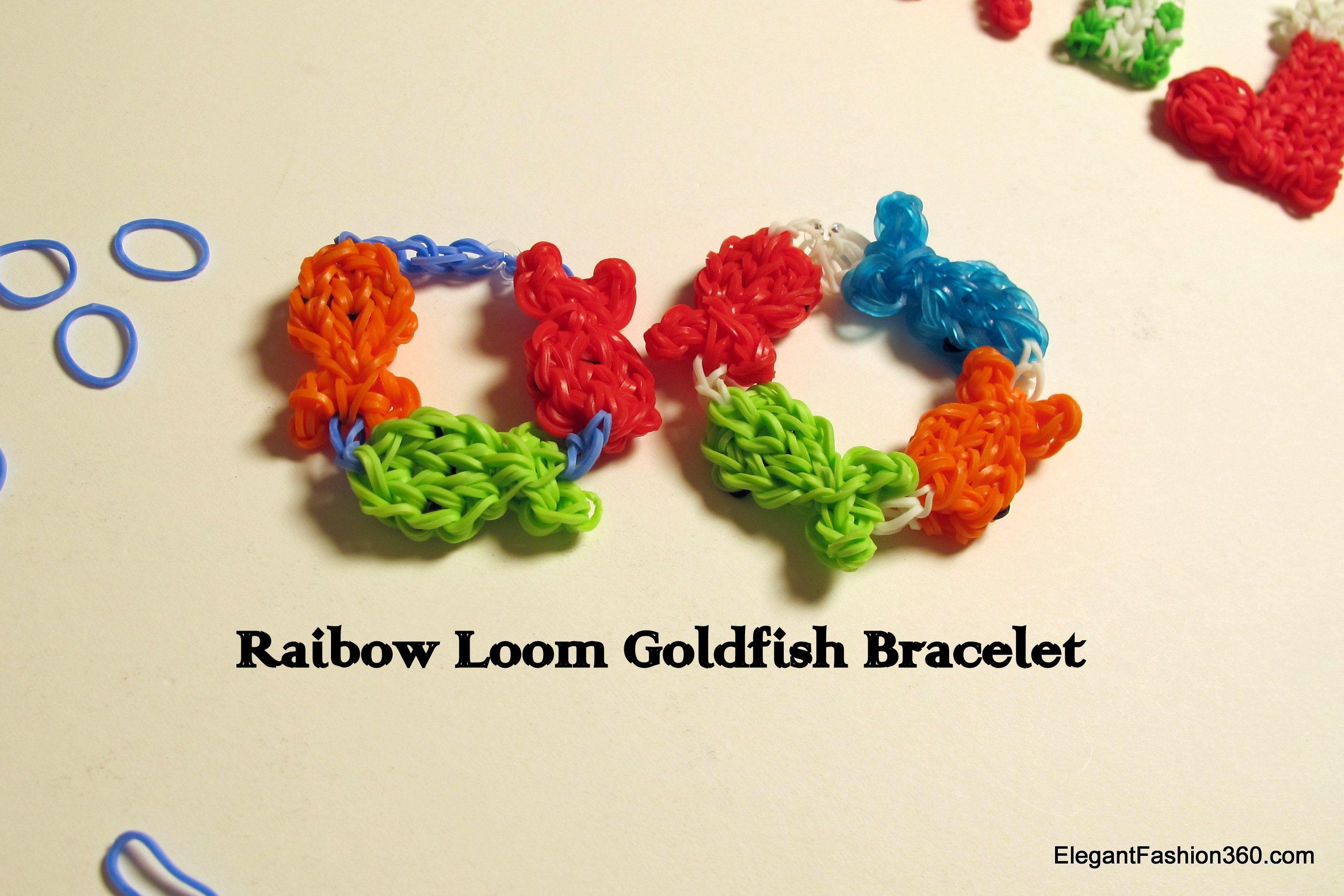 How to make goldfish bracelet or key-chain.  http://elegantfashion360.com/make-goldfish-charms-rainbow-loom/ ♥ Like us on Facebook: http://on.fb.me/1bz2WYi ♥ Tutorials on yourTube channel: https://www.youtube.com/user/ElegantFashion360   ♥ Check out my web site: http://elegantfashion360.com Creativity is an Attitude!!! Good Luck!