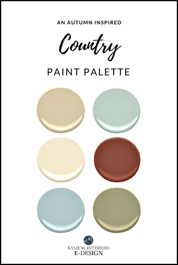 Autumn or fall paint palette ideas benjamin moore kylie m