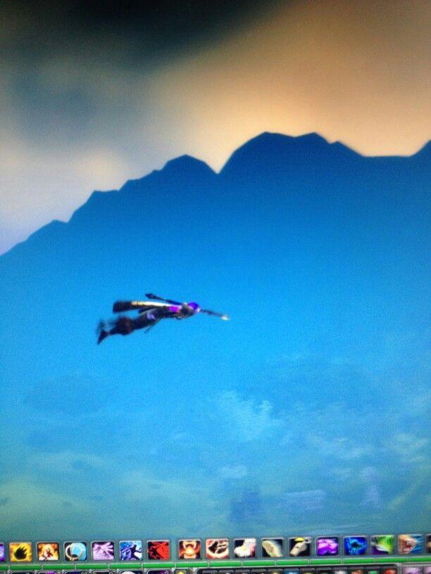 Super Daem...Warcraft glitch swimming through air