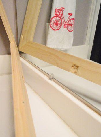How To Build A Wood Frame Around A Bathroom Mirror Home Diy