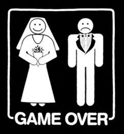 Game over funny marriage cartoon