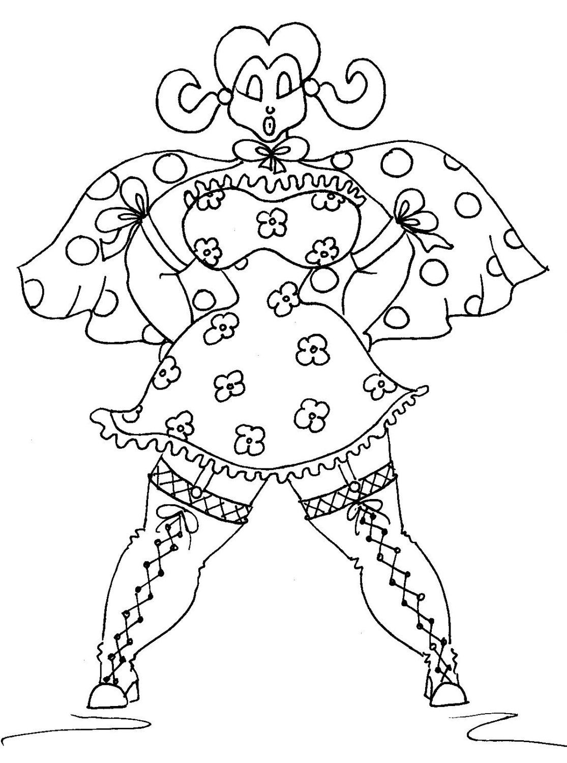 Super Chubby Adult Coloring Page by Chubby Art Cartoons DIY