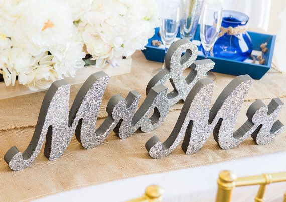 Mr And Mrs Wedding Signs Mr Mrs Wooden Letters By Zcreatedesign