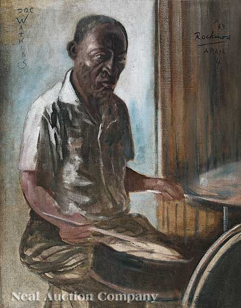 New Orleans artist Noel Rockmore, 1928-1995, portrait of Joe