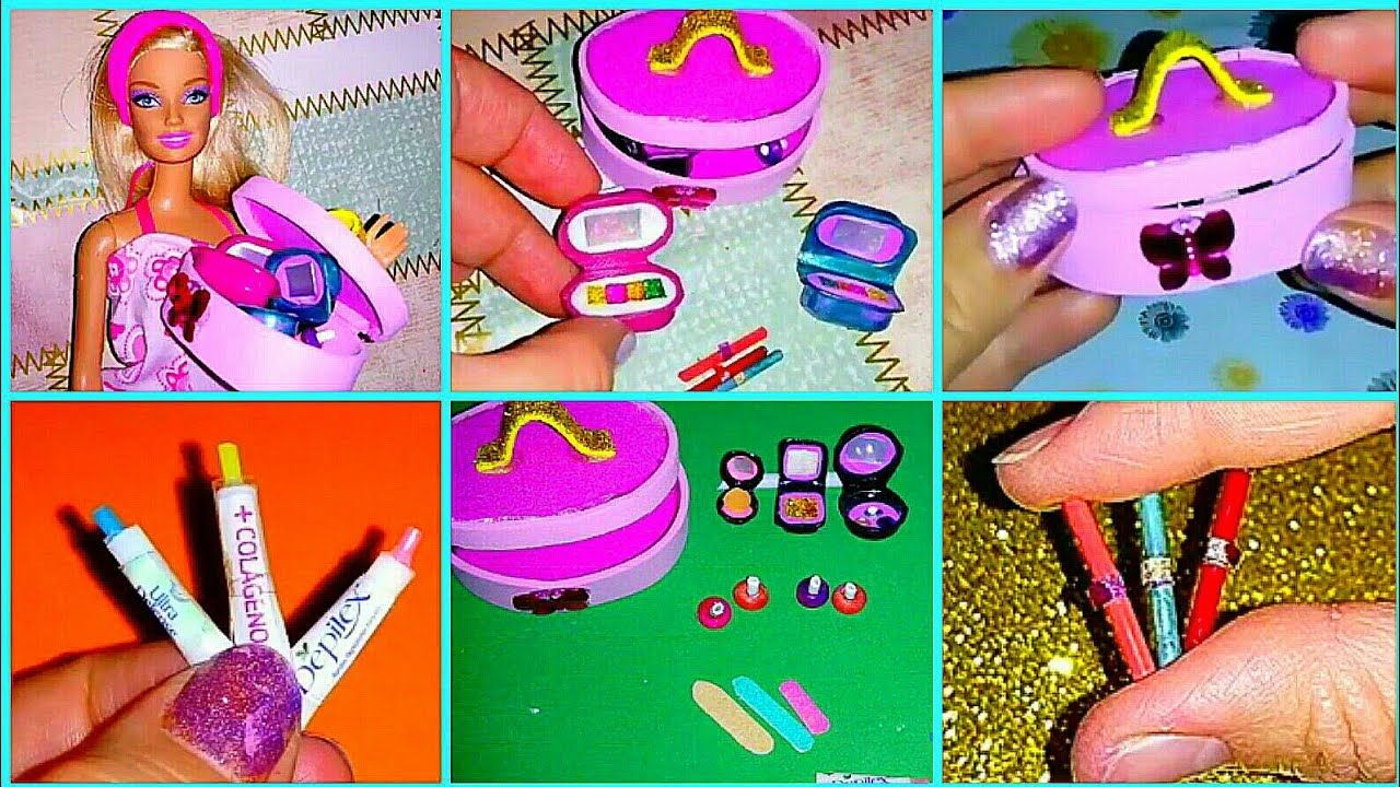 Diy Manualidades Miniaturas Accesorios De Maquillaje Fácil De Hacer Para Muñecas Barbie Youtube Paper Crafts Diy Tutorials Paper Crafts Diy Paper Crafts
